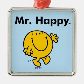 Mr. Men   Mr. Happy Is Always Happy Metal Ornament