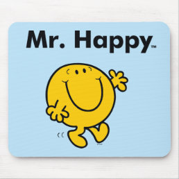 Mr. Men   Mr. Happy Is Always Happy Mouse Pad