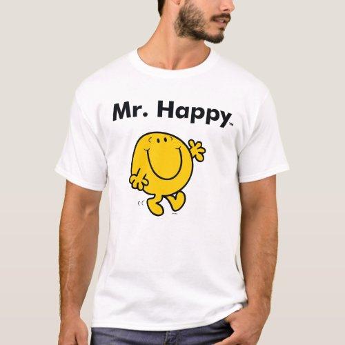 Mr Men  Mr Happy Is Always Happy T_Shirt