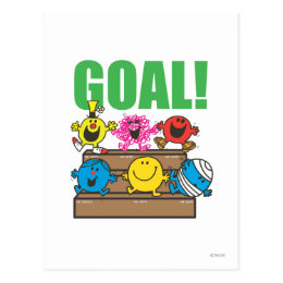 Mr. Men Soccer Fans   Goal Postcard