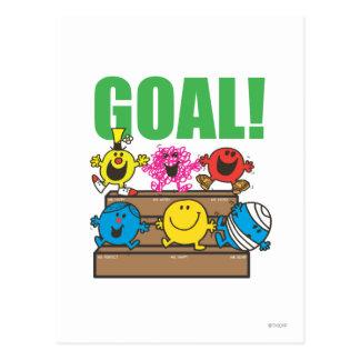 Mr. Men Soccer Fans | Goal Postcard