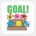 Mr. Men Soccer Fans | Goal Square Sticker