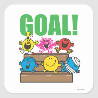 Mr. Men Soccer Fans | Goal Square Sticker