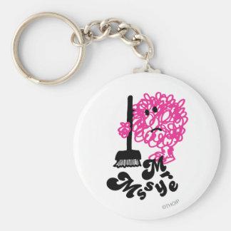Mr. Messy   Broom & Name Keychain