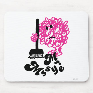 Mr. Messy | Broom & Name Mouse Pad