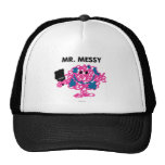 Mr. Messy Holding A Paintbrush Trucker Hat