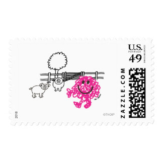 Mr Messy on the Farm Postage Stamp