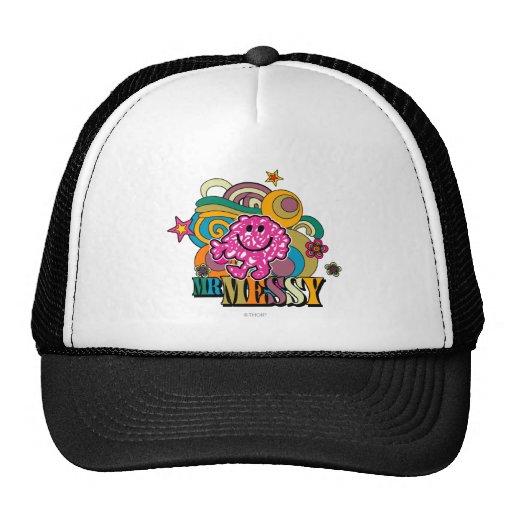 Mr Messy Swirl Color Mesh Hats