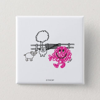 Mr. Messy & Two Pigs Button