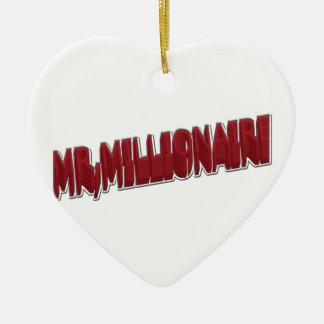 MR,Millionaire Red 3 Dimension Ceramic Ornament