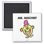 Mr. Mischief | Smiling Gleefully 2 Inch Square Magnet