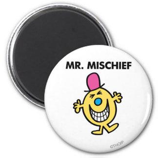 Mr. Mischief | Smiling Gleefully 2 Inch Round Magnet