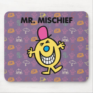 Mr. Mischief | Smiling Gleefully Mouse Pad