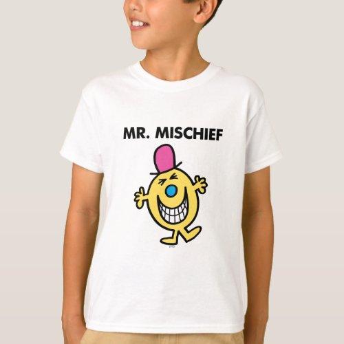 Mr Mischief  Smiling Gleefully T_Shirt