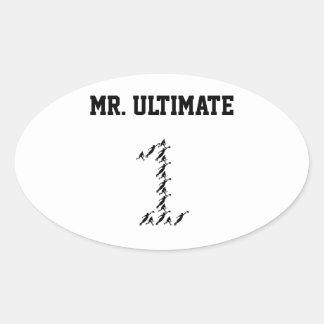 Mr./Miss Ultimate Oval Sticker