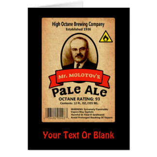 Mr. Molotov's Pale Ale Label Card