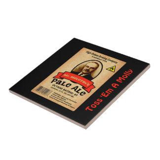 Mr. Molotov's Pale Ale Label Ceramic Tile