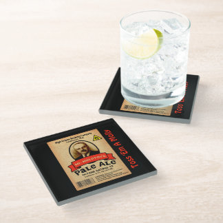 Mr. Molotov's Pale Ale Label Glass Coaster