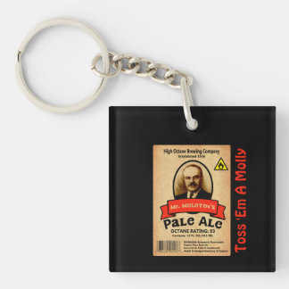 Mr. Molotov's Pale Ale Label Keychain
