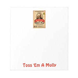 Mr. Molotov's Pale Ale Label Notepad