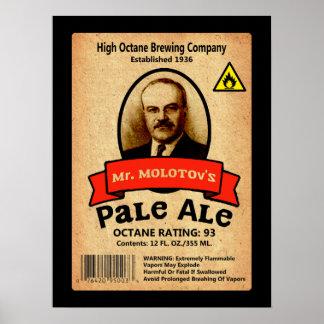 Mr. Molotov's Pale Ale Label Poster