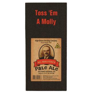 Mr. Molotov's Pale Ale Label Wood USB Flash Drive