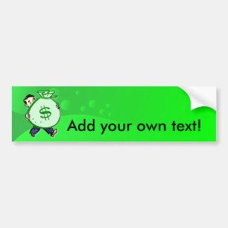 Mr. Moneybags Car Bumper Sticker