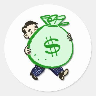 Mr. Moneybags Classic Round Sticker