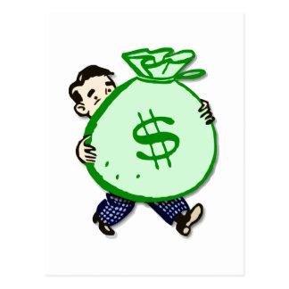Mr. Moneybags Postcard