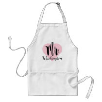 Mr. Monogram | Pink Heart Adult Apron
