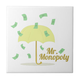 Mr.Monopoly Azulejo Cuadrado Pequeño