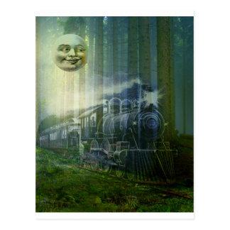 MR MOON AND GHOST TRAIN.jpg Post Card