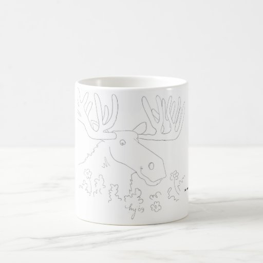 Mr. Moose Classic White Coffee Mug
