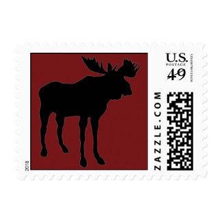 Mr. Moose Postage Stamp