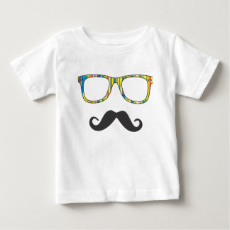 Mr Moustache Hipster Baby T-Shirt