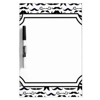 Mr. Moustache Hipster Pattern Dry Erase Board