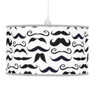 Mr. Moustache Hipster Pattern Hanging Lamp