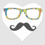 Mr Moustache Hipster Stickers