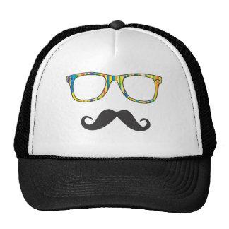 Mr Moustache Hipster Trucker Hat