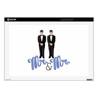 "Mr.& Mr. 17"" Laptop Decal"