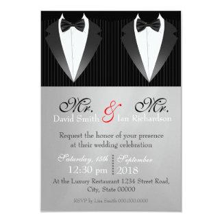 Mr. & Mr. Bow 3.5x5 Paper Invitation Card
