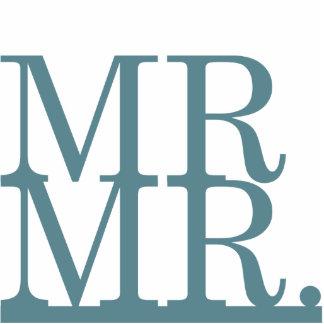 Mr & Mr Cake Topper [blue] Statuette