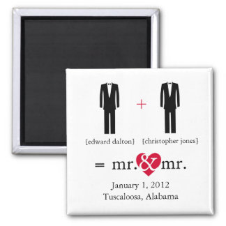 Mr &  Mr Do the Math Save the Date Magnet