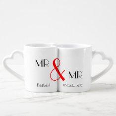 Mr & Mr Gay Wedding Gift Coffee Mug Set at Zazzle