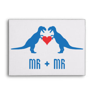 Mr+Mr - Love is Love Dinosaurs Envelopes