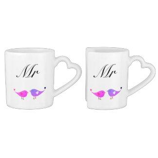 MR & MR lovebirds Coffee Mug Set