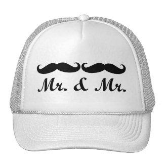 MR & MR MUSTACHE GAY MARRIAGE HAT