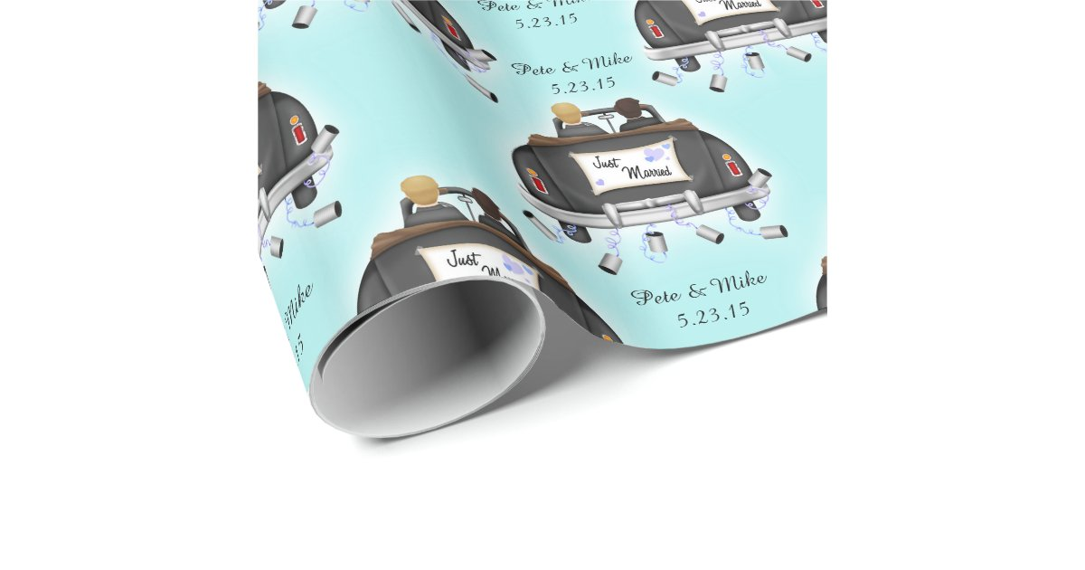 Mr. & Mr. Personalized Gay Wedding Gift Wrap Zazzle