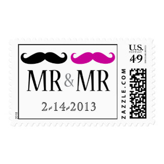 MR & MR Save The Date Postage Stamps