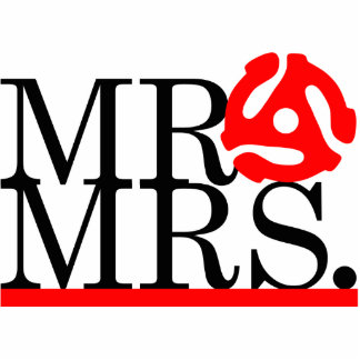 Mr & Mrs 45 Adapter Cake Topper Cutout